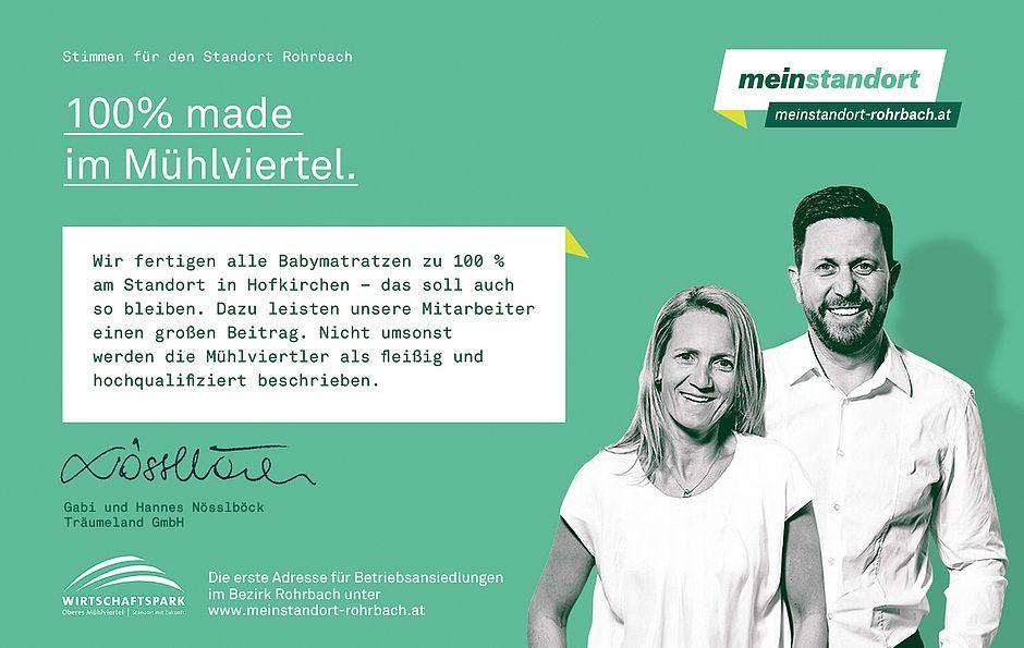 Stimmen für den Standort Rohrbach, Träumeland
