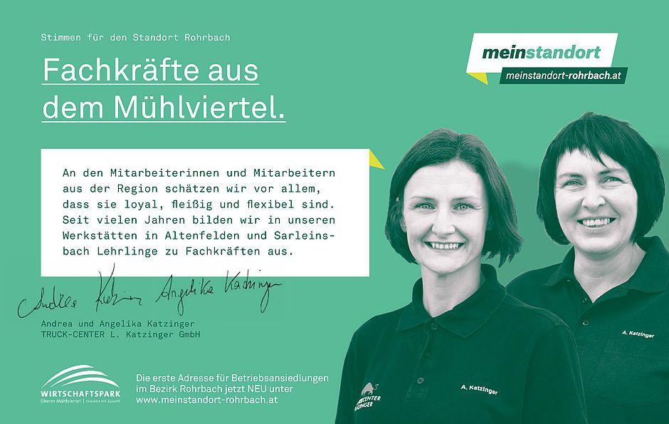 Stimmen für den Standort Rohrbach, Katzinger