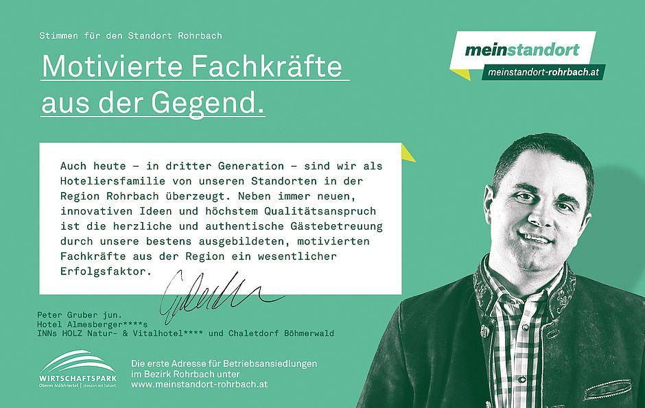 Stimmen für den Standort Rohrbach, Gruber Hotel GmbH, Hotel Almesberger