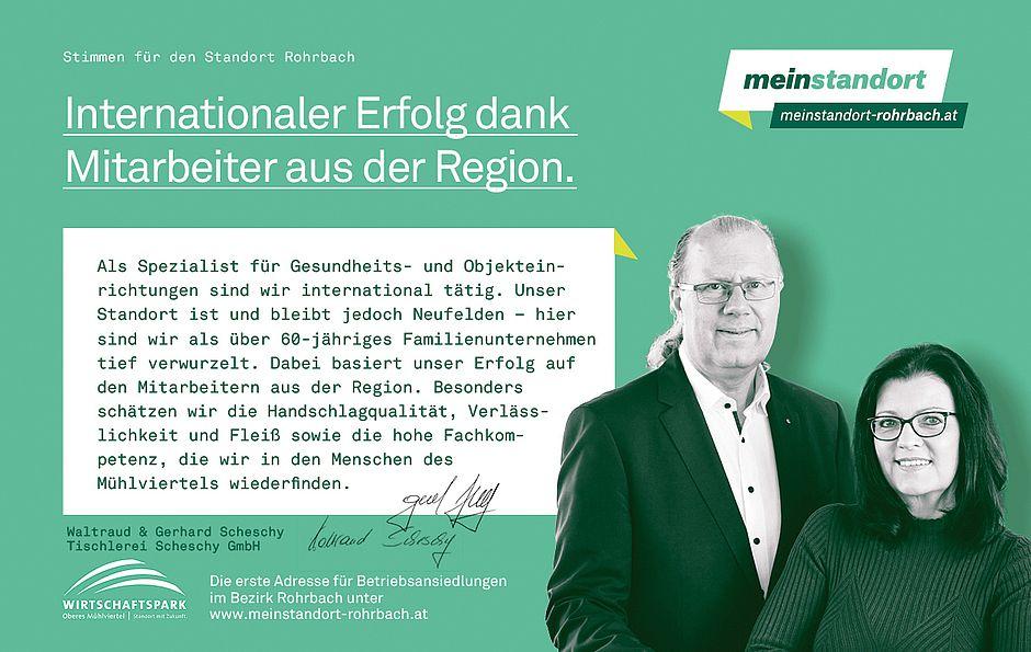Stimmen für den Standort Rohrbach, Scheschy