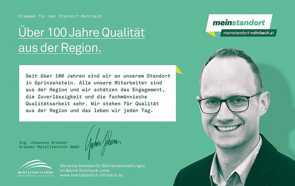 Stimmen für den Standort Rohrbach, Grabner Metalltechnik