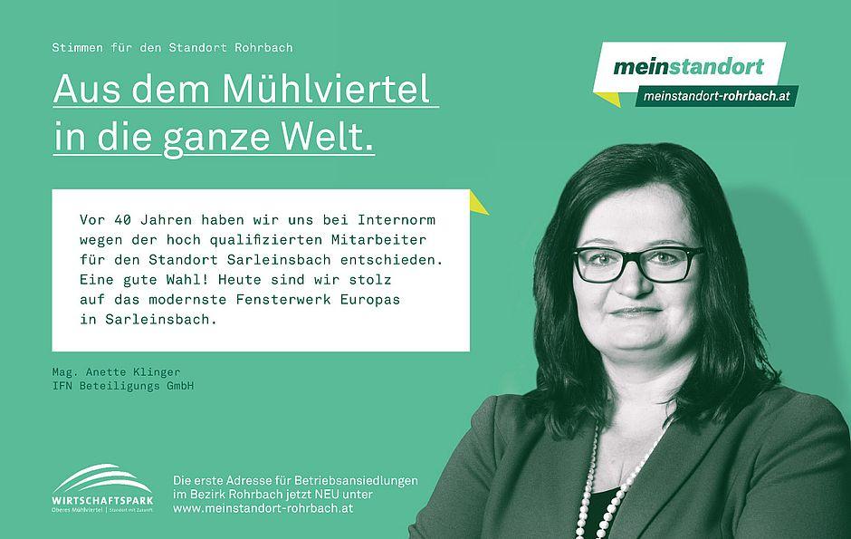 Stimmen für den Standort Rohrbach, Internorm