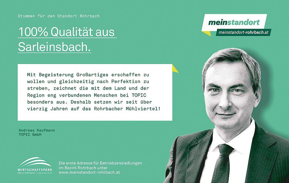 Stimmen für den Standort Rohrbach, TOPIC