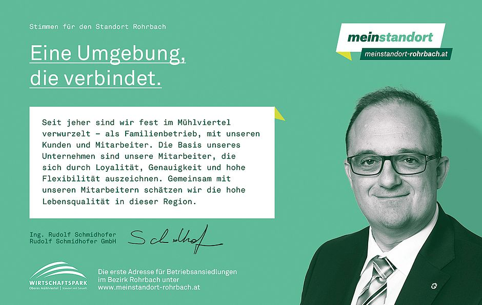 Stimmen für den Standort Rohrbach, Schmidhofer