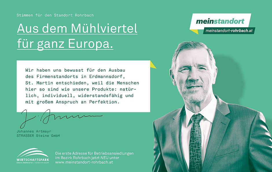 Stimmen für den Standort Rohrbach, Strasser