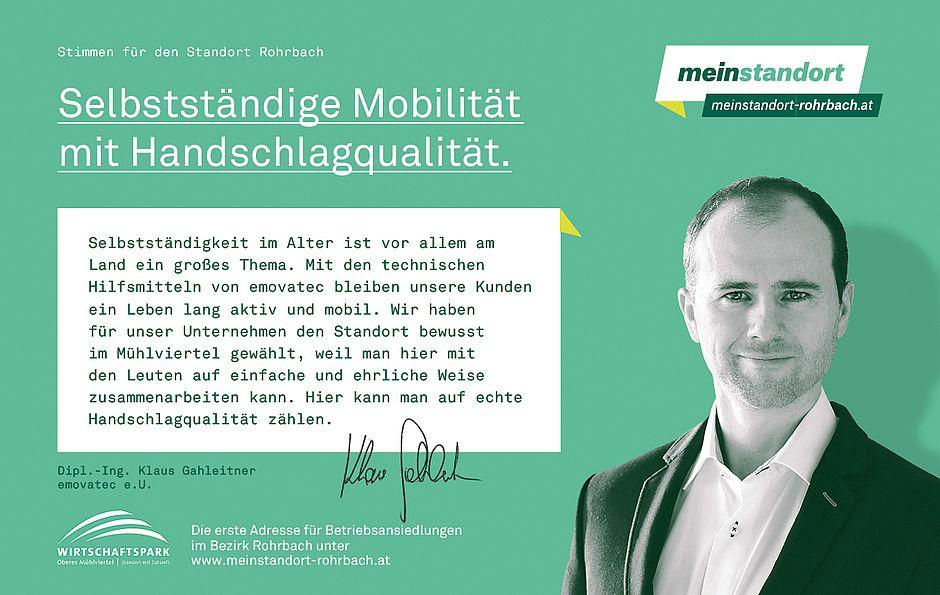 Stimmen für den Standort Rohrbach, emovatec