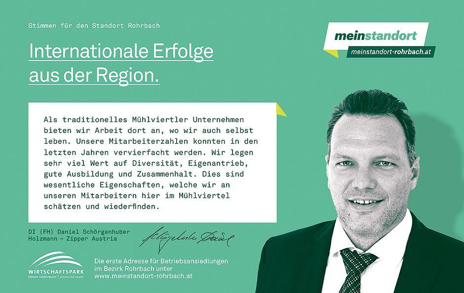 Stimmen für den Standort Rohrbach, Holzmann