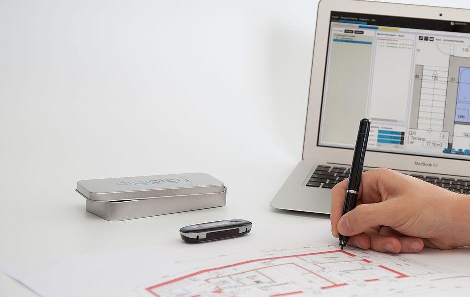 MeinStandort Rohrbach digiplan Stift Laptop Arbeitsweise